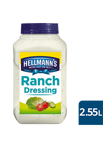 HELLMANN'S Ranch Dressing 2.55 L - Our HELLMANN'S Salad Dressings provide exceptional coating performance for tastier salads.