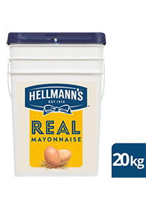 HELLMANN'S Real Mayonnaise 20 kg - Made to an authentic egg yolk recipe for a scratch - made taste, that's also Gluten Free.