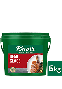 KNORR Demi Glace Gluten Free 6kg - Gluten free with distinct notes of Australian roasted beef and red wine, this decadent sauce is set to impress with your signature touch.