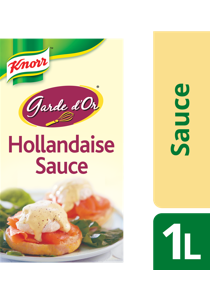 KNORR Garde d'Or Hollandaise Sauce 1 L - Made with real egg yolks for close-to-scratch taste.