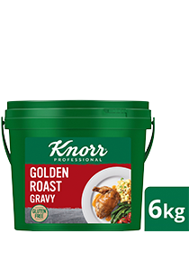 KNORR Golden Roast Gravy Gluten Free 6kg - Light, gluten-free and vegetarian, Knorr Golden Roast Gravy is ideal for modern palates and great with white meats and plant-based dishes.