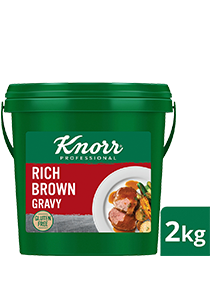 KNORR Rich Brown Gravy Gluten Free 2kg - Gluten-free and vegetarian, this trusted, all-rounder gravy goes well with everything from steaks, pies and casseroles.