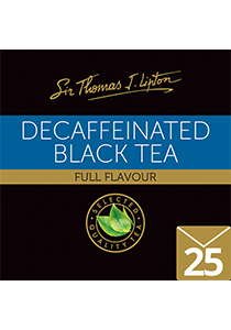 SIR THOMAS LIPTON Decaffeinated 25's - Individually sealed for a premium and fresher tea.