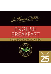 SIR THOMAS LIPTON English Breakfast Envelope Tea 25's - Individually sealed for a premium and fresher tea.