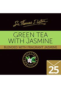 SIR THOMAS LIPTON Jasmine Green Envelope Tea 25's - Individually sealed for a premium and fresher tea.