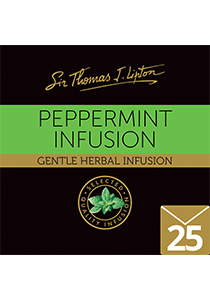 SIR THOMAS LIPTON Peppermint Envelope Tea 25's - Individually sealed for a premium and fresher tea.
