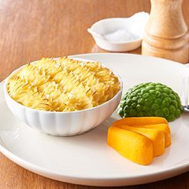 Pureed meal: Fish Pie with Potato Top