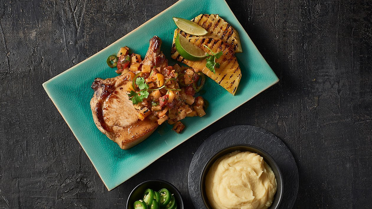 BBQ Pork with Smoked Pineapple Pico de Gallo – Recipe