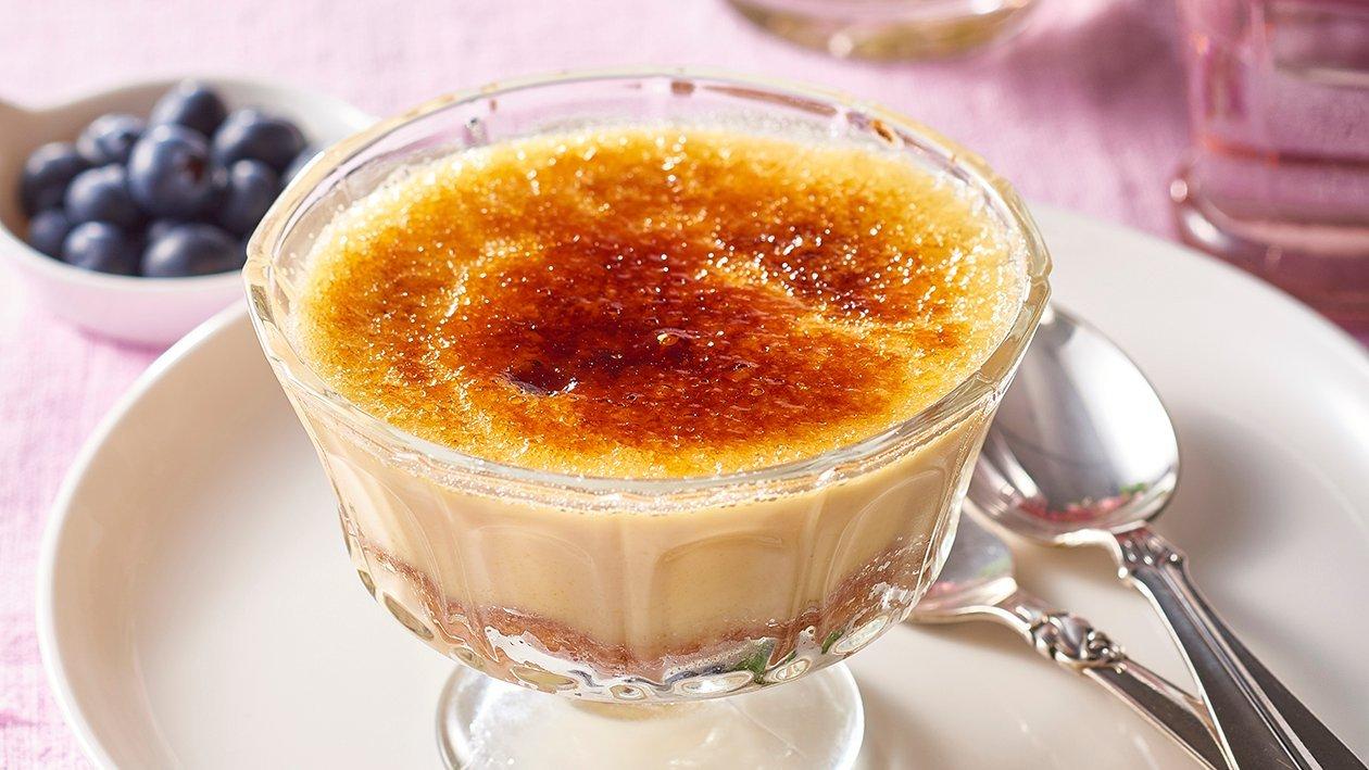 Cinnamon Doughnut Brulee Pudding – Recipe