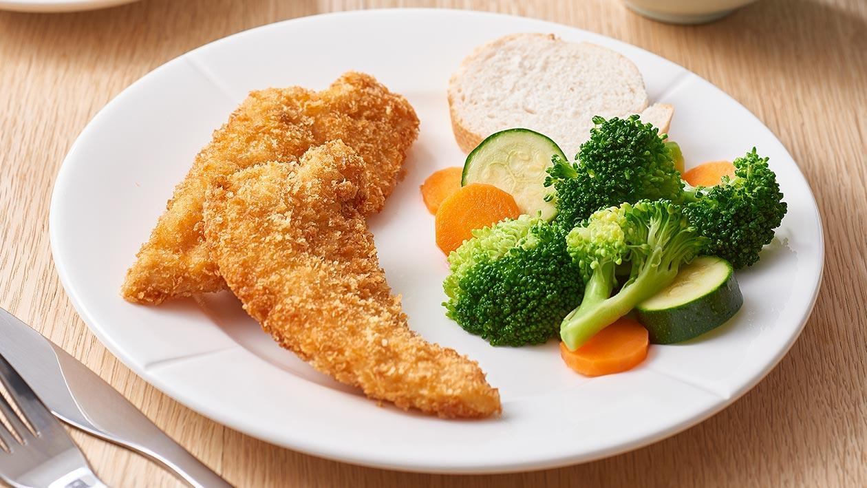 Crumbed Chicken Tenderloins with Lime Aioli – Recipe