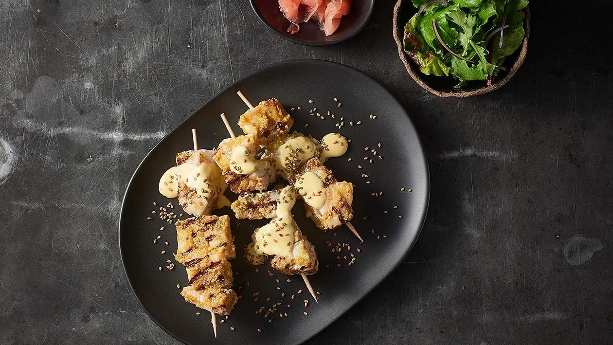 Green Curry King Fish Yakitori – Recipe