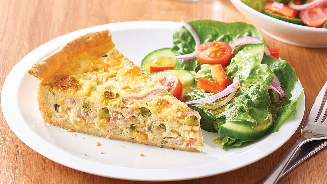 Ham, Zucchini and Corn Quiche – Recipe