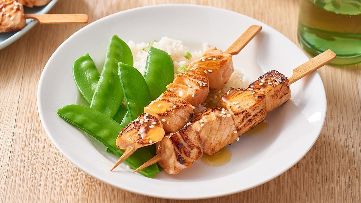Lemon Sesame Salmon Skewers – Recipe