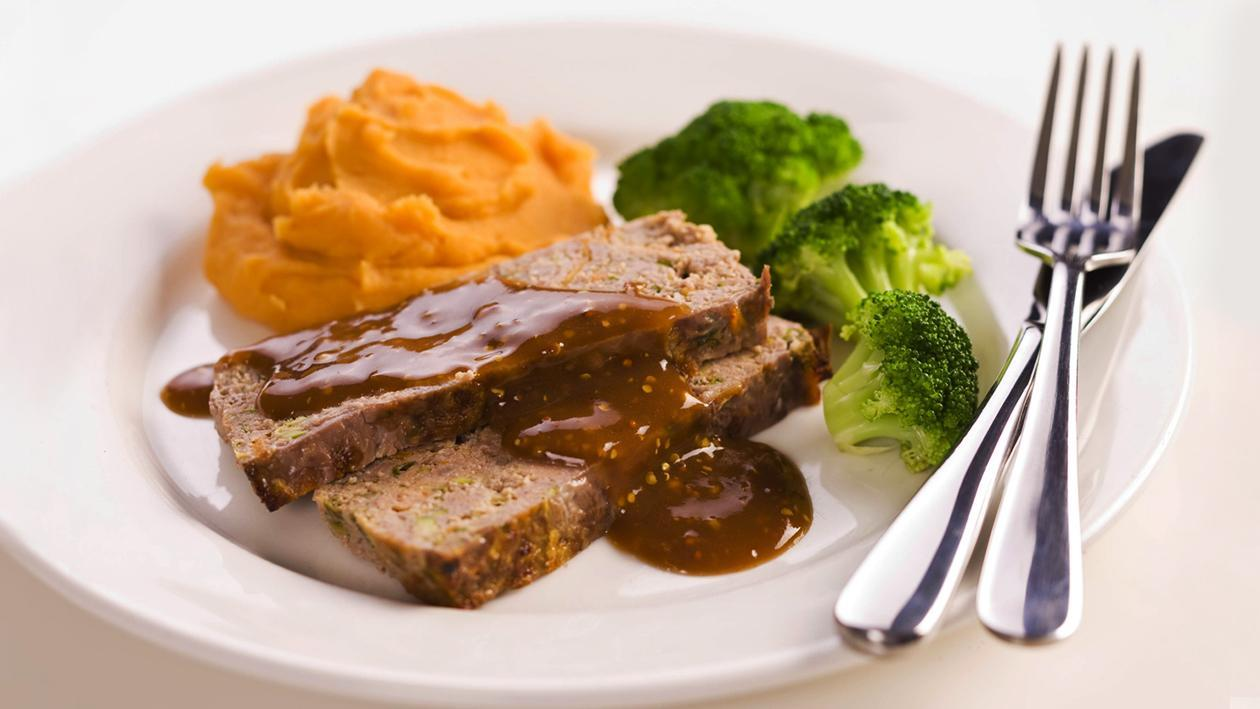 Meatloaf with Sweet Potato Mash – Recipe