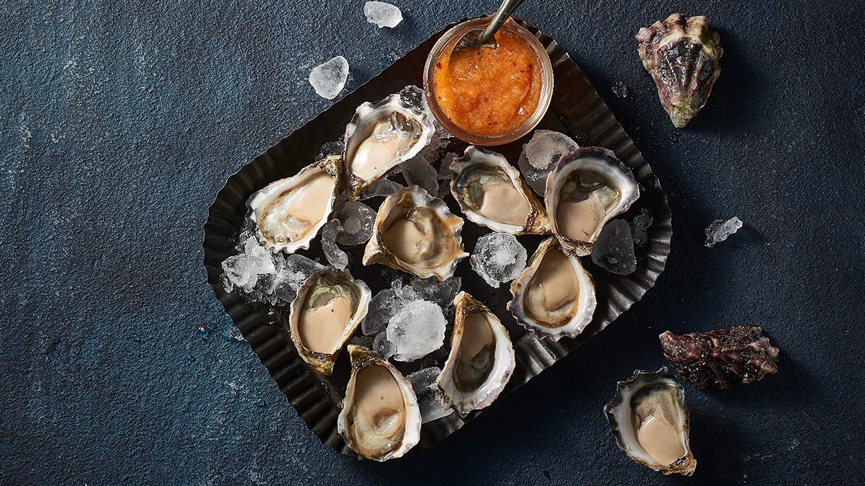 Oysters with Chilli Lime Granita – Recipe