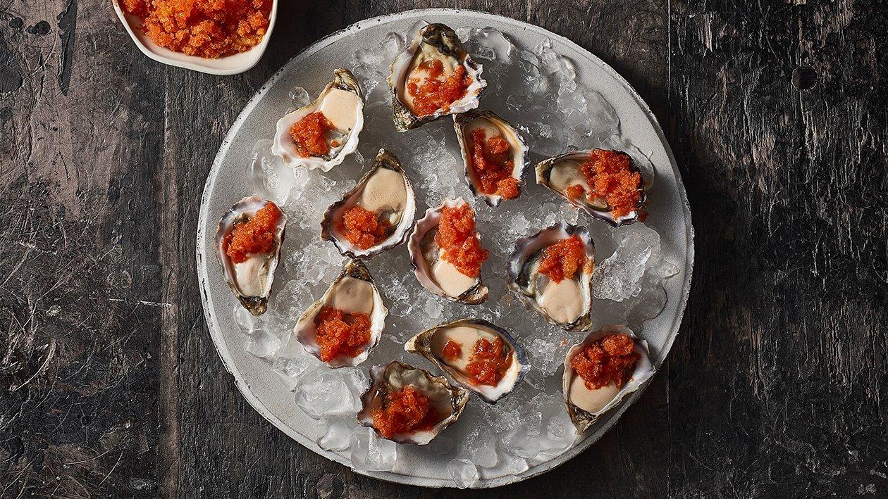 Oysters with Tomato Granita – Recipe