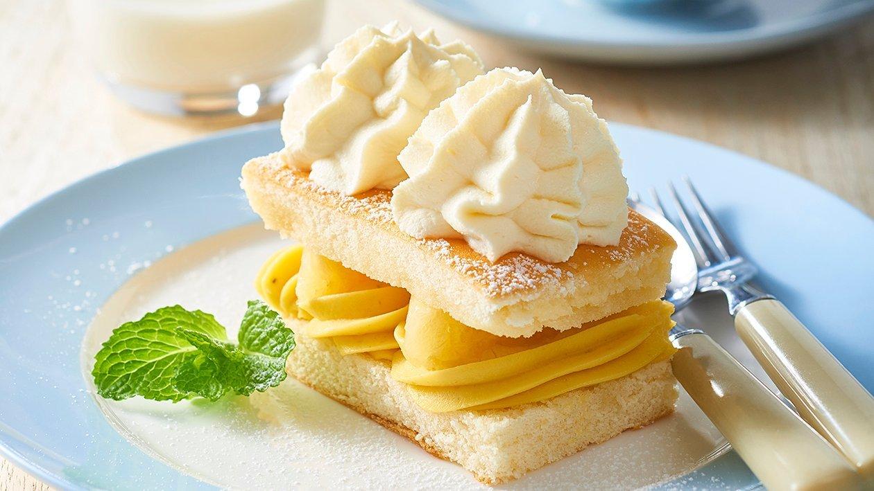 Pineapple Cream Sponge Cake – Recipe