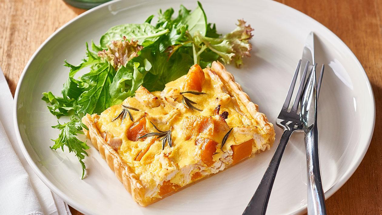 Pumpkin, Rosemary, Lemon Chicken Quiche – Recipe