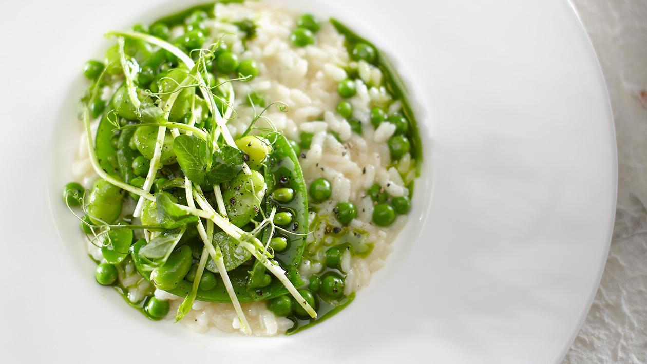 Risotto with Green Vegetables – Recipe