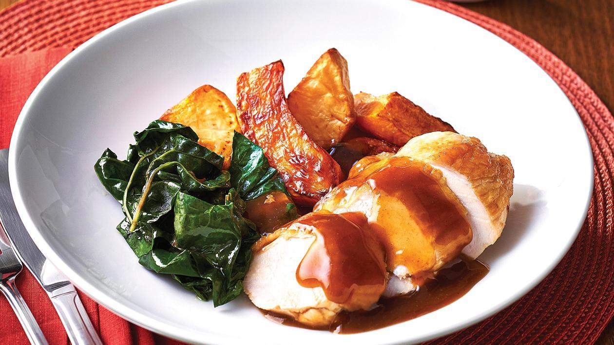 Roast Chicken with Sweet Mango Gravy – Recipe