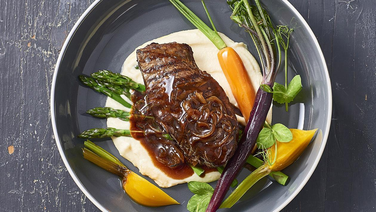 Rump Cap, Musket French Onion Sauce, Truffle Cauliflower – Recipe