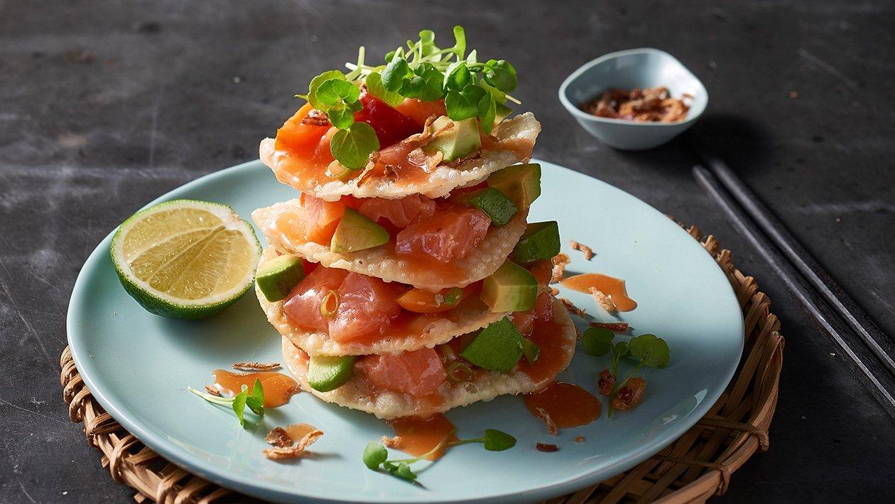 Salmon Wonton Stack – Recipe