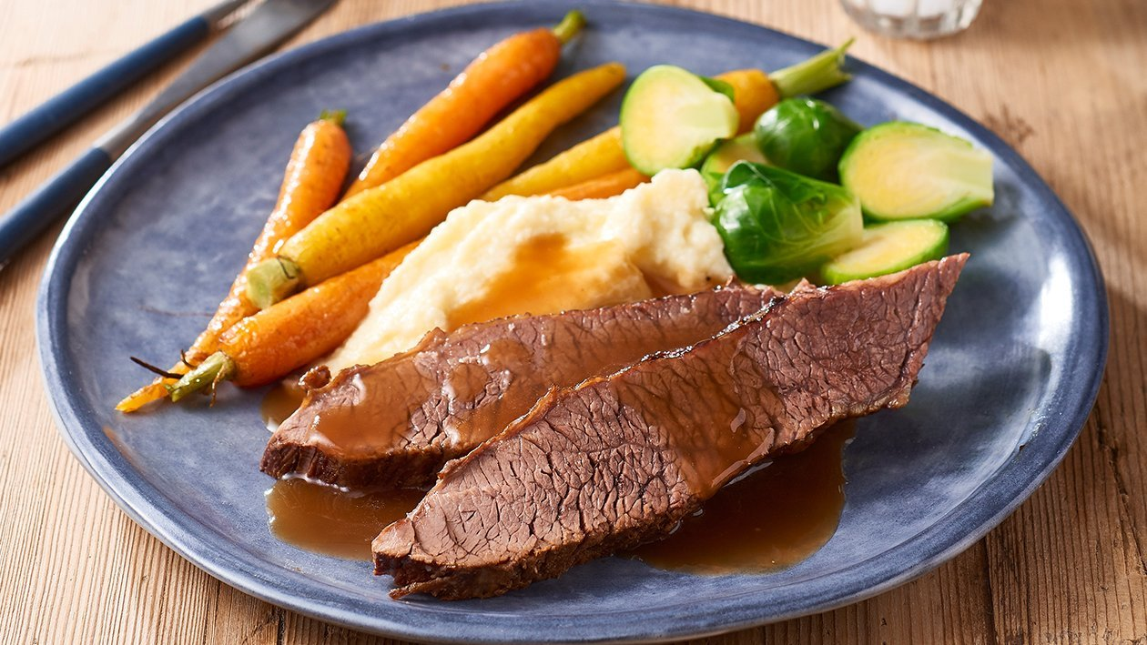 Slow Braised Beef Brisket with Cauliflower Puree – Recipe