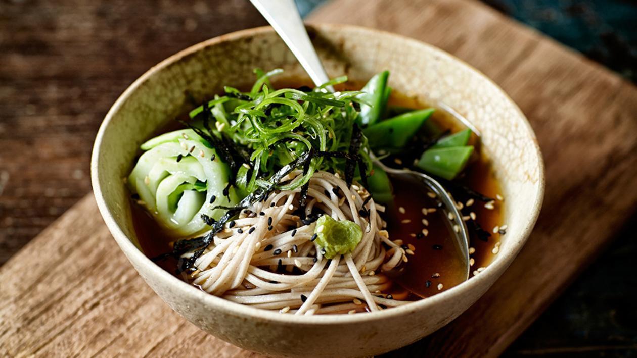 Soba Noodles with Bonito, Bok Choy and Wasabi – Recipe