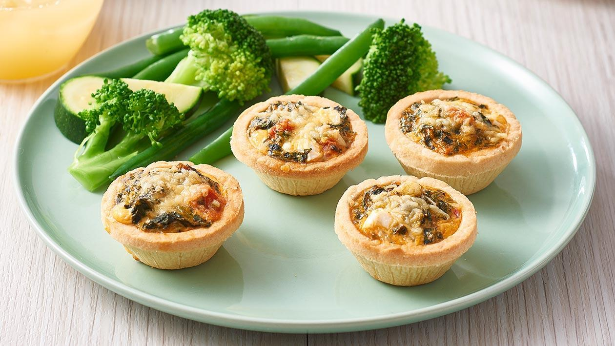 Spinach, Feta and Tomato Quiches – Recipe