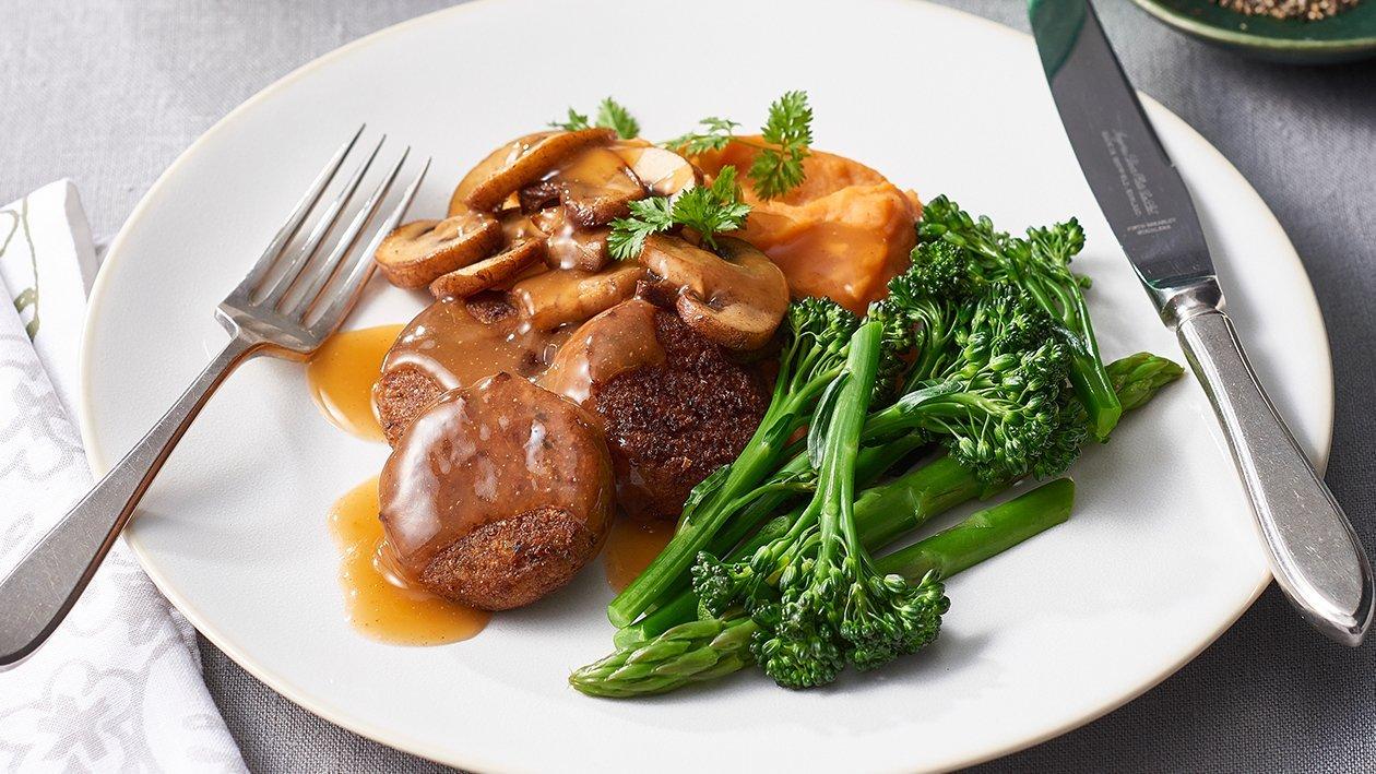 Vegetarian Falafel with Sweet Potato Mash – Recipe