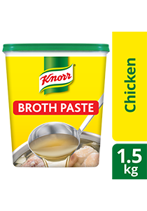 Knorr Chicken Broth Base 1.5kg - Only Knorr Chicken Broth delivers that full, meaty taste in your soups and stews consistently