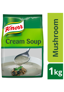 Knorr Cream of Mushroom Soup Mix 1kg - Made with real ingredients, Knorr Cream of Mushroom is a high quality base that help minimize your food costs.