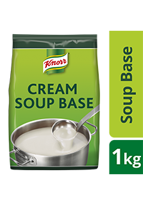 Knorr Cream Soup Base Mix 1kg - Made with real cream, Knorr Cream Soup Base is a high quality base for a variety of cream soups.