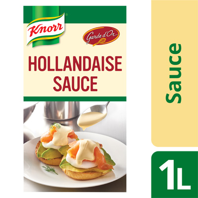 Knorr Hollandaise Sauce 1L - Our ready-to-use Knorr Hollandaise helps you effortlessly give your dishes a delicious, rich taste.