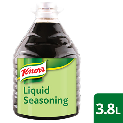 Knorr Liquid Seasoning 3.8L - Knorr Liquid Seasoning provides that well-rounded sweet-salty-umami flavor that enhances the taste of dishes