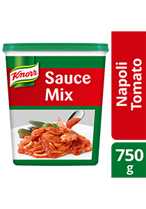 Knorr Napoli Tomato Sauce 750g - Made with real tomatoes and herbs, Knorr Napoli Tomato Sauce Mix can be created in just  5 minutes.