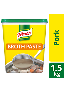 Knorr Pork Broth Base 1.5kg - Only Knorr Pork Broth delivers that full, meaty taste in your soups and stews consistently