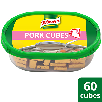 Knorr Pork Cubes Professional Pack 600g - Only Knorr Pork Broth delivers that full, meaty taste in your soups and stews consistently