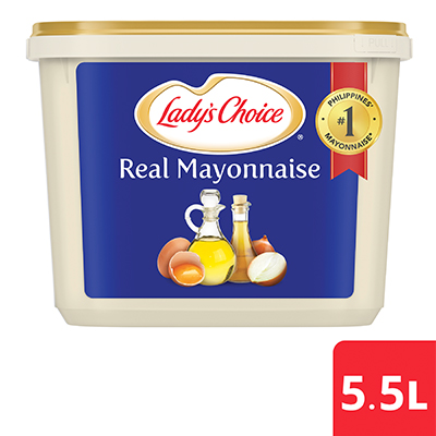 Lady's Choice Real Mayonnaise 5.5L - A spoonful of Lady's Choice Real Mayonnaise has the perfectly balanced taste to let you create delicious dips.