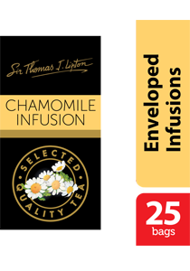 Thomas J. Lipton Chamomile Infusion Tea 25 x 1g - Impress your guests with Sir Thomas Lipton teas, exclusively selected from the world's renowned tea regions