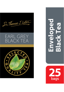 Thomas J. Lipton Earl Grey Black Tea 25 x 2.4g - Impress your guests with Sir Thomas Lipton teas, exclusively selected from the world's renowned tea regions