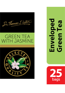 Thomas J. Lipton Green Tea with Jasmine 25 x 2g - Impress your guests with Sir Thomas Lipton teas, exclusively selected from the world's renowned tea regions
