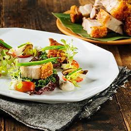 Bagnet Salad with Lemon Garlic Aioli
