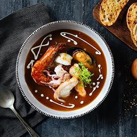 Bouillabaisse with Smoked Pepper Rouille