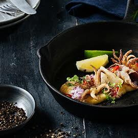 Salted Egg Squid Sisig