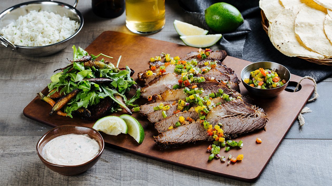 Beef Brisket with Salsa Criolla