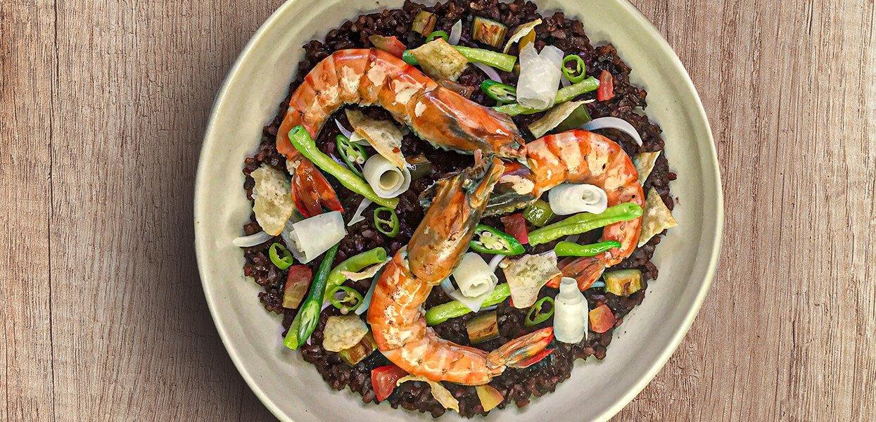 Black Rice Prawn Sinigang Paella