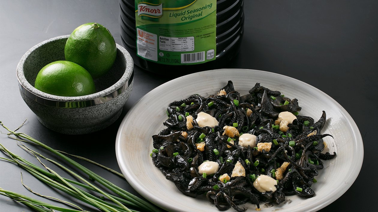 Black Squid Ink Sisig