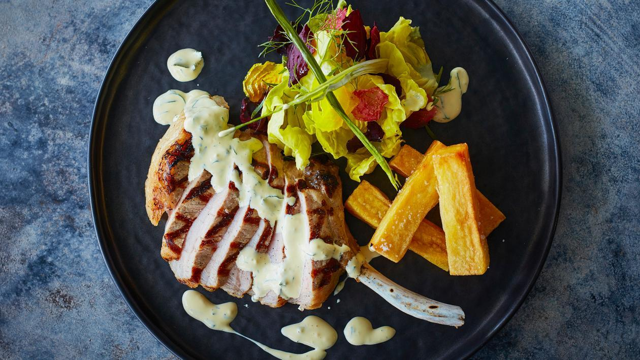 Grilled Pork Cutlet Béarnaise