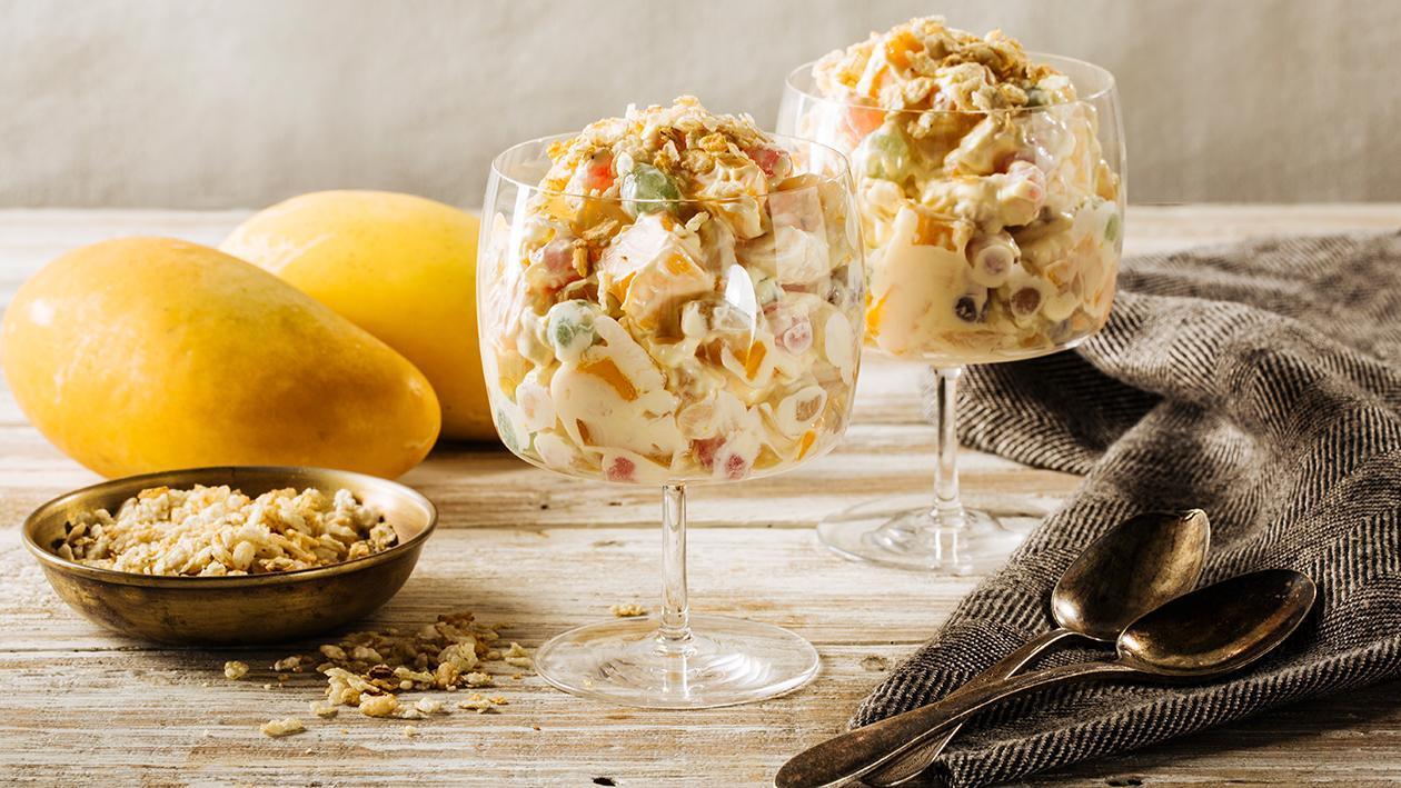 Mango Lychee Tapioca Cream Recipe
